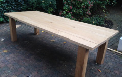 massief eiken tuintafel van exclusive woods